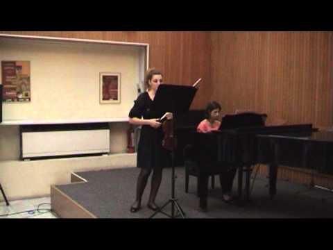 Maria Athanasiadou plays with violin Beethoven, Paganini, Saint Saens