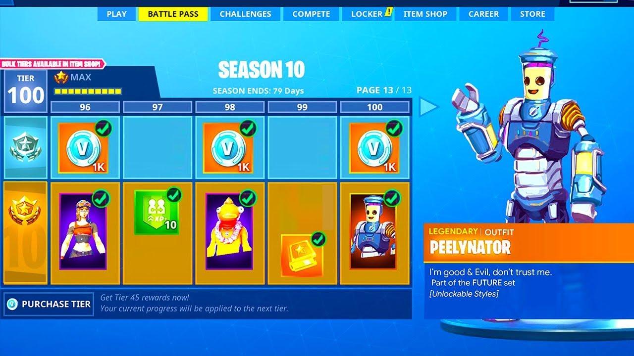 New Season 10 Battle Pass Leaked Season 10 Battle Pass