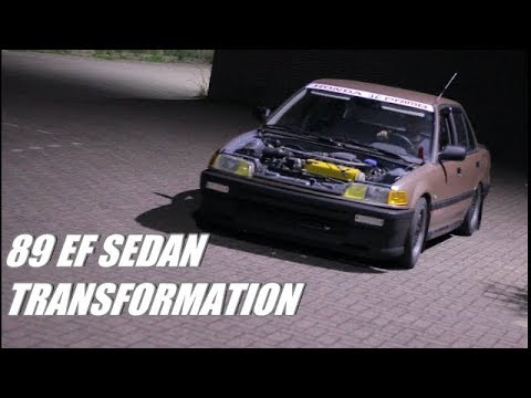 1989 Honda Civic EF sedan transformation | Themidnightgarage #210
