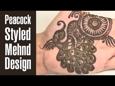 Popular Peacock Styled Mehndi Design Tutorial