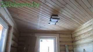 Скрытая электропроводка в деревянном доме(видео)(Монтаж скрытой электропроводки в деревянном доме.Чистовые работы., 2013-03-28T18:05:29.000Z)