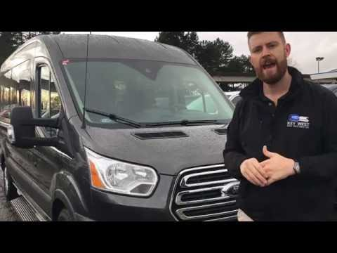 2017 Ford Transit Wagon 15 Passenger Medium Roof Van Walkaround Review