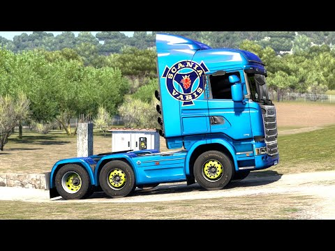 ETS 2 Iberia DLC - Scania R490 Transporting Milk from Pamplona Part 1 |