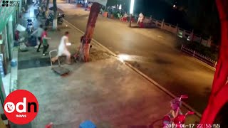 Terrifying moment an earthquake strikes in China