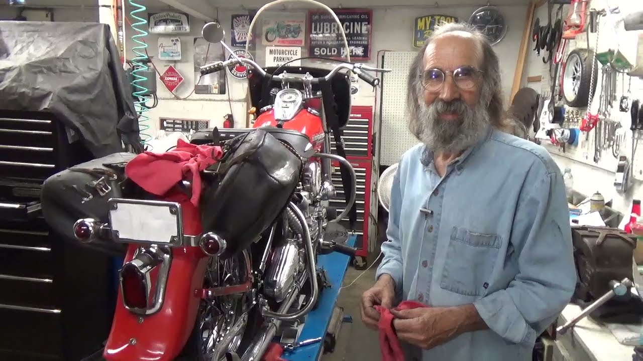 Gotta Put the Rear Wheel Back on the Panhead Harley