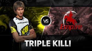 Triple kill by Dendi vs Empire @ D2CL S4