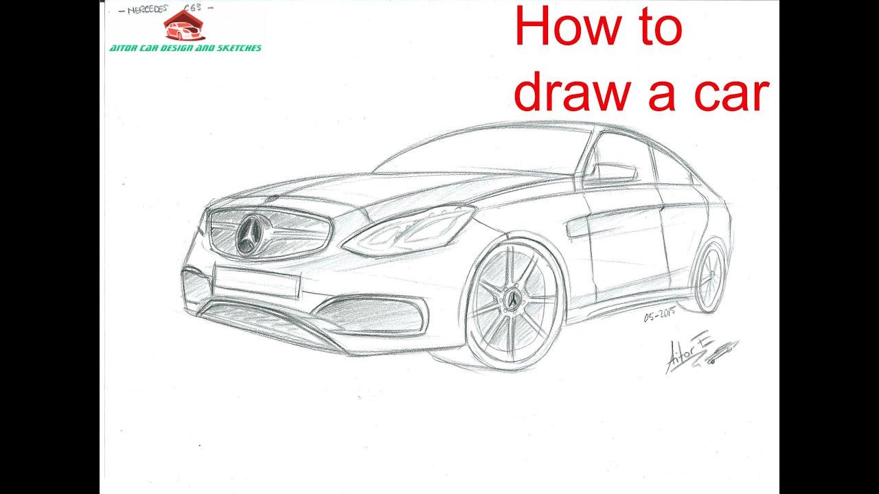 how to draw a car - como dibujar un coche