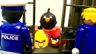 Wściekłe Ptaki i Policja  Angry Birds w więzieniu  Bajka dla dzieci PO POLSKU