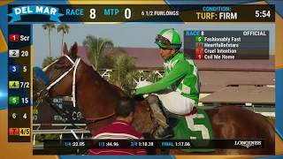 Fashionably Fast wins Race 8 at Del Mar 08/24/19