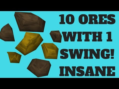 Mining 10 Ores With 1 Swing! OVERPOWERED Mining Money Making Method | RS3 2019