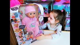 Бебі Анабель 10 версія з мімікою. Розпакування Граємо Інтерактивна Лялька Zapf Creation Baby Annabelle