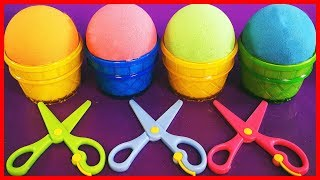 Play Sand Ice Cream Cups Learn Colors  LOL Dolls,Barbie,Shopkins,Kinder Surprise Eggs