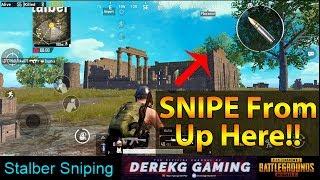 Every PUBG Mobile Pro Should Know This Sniping Spot Near STALBER on Erangel | DerekG