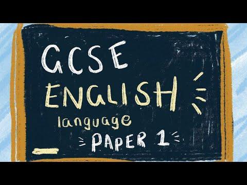 Q1 & 2  Paper 1 Edexcel GCSE English Language (9-1)