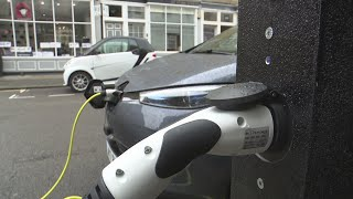 London lamp posts turned into car charging points