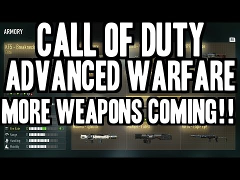 Call of duty advanced warfare new weapons coming 3rd elite variants