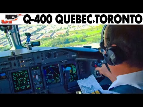 Piloting The Air Canada Exp Q-400 Into Toronto | Cockpit Views