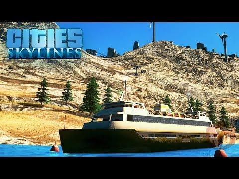 Cities: Skylines - Паром – Канатная дорога! #36