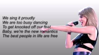 Taylor Swift-New Romantics lyrics