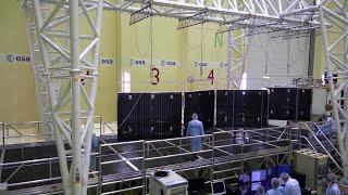 Mercury Transfer Module solar wing deployment
