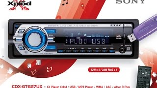 Sony CDX-GT627UX – Cd Player Xplod / USB / MP3 Player / WMA / AAC / Atrac 3 Plus
