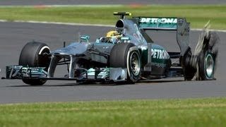 F1 2013 British Grand Prix Tyre Failure Accident