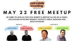 Real Estate Investing Meetup - Difference between Large and Small Multifamily