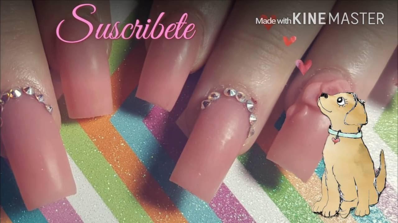 Uñas Rosas Mate/ Pink Matte Nails - YouTube