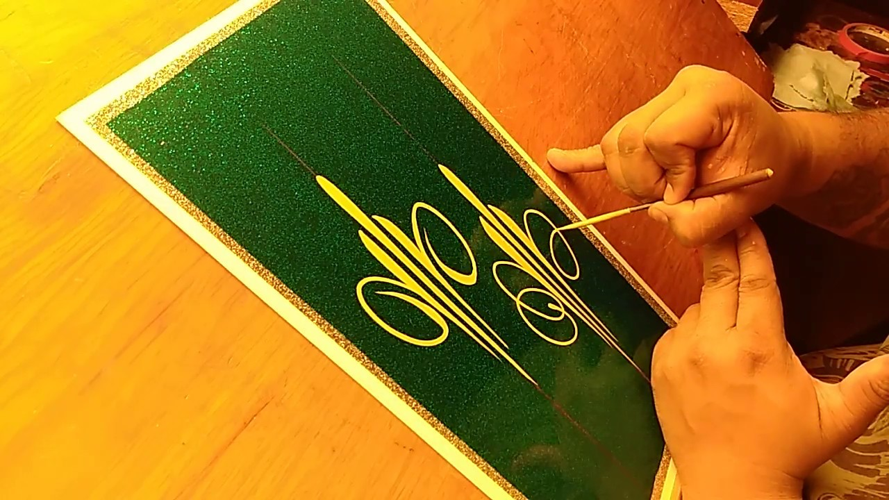 How To Pinstripe Simple Pinstriping Design 5 Youtube