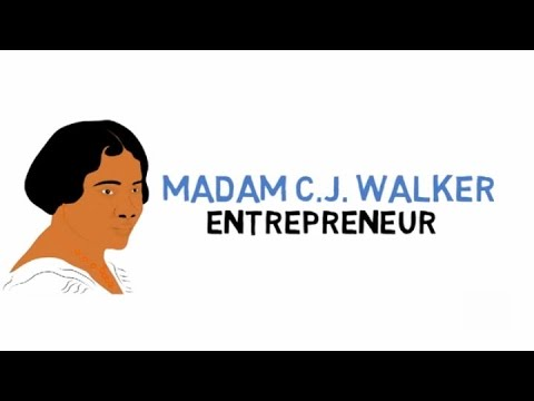 Madam CJ Walker For Kids (Fun Facts) Cartoons For Kids (Educational Videos For Students)