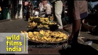 Local fruit market in Mysore