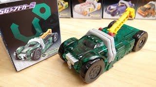 食玩SGシフトカー2 シフトフッキングレッカー レビュー!全5種 DXドライブドライバー & DXブレイクガンナーで音声確認 仮面ライダードライブ タイプワイルド thumbnail