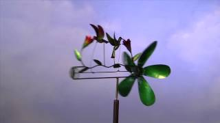 Handcrafted Metal Hummingbirds Whirligig-plow & Hearth