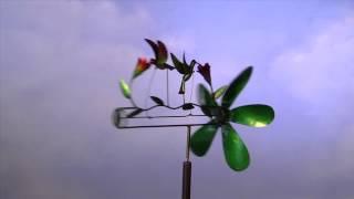 Handcrafted Metal Hummingbirds Whirligig-plow & Hearth
