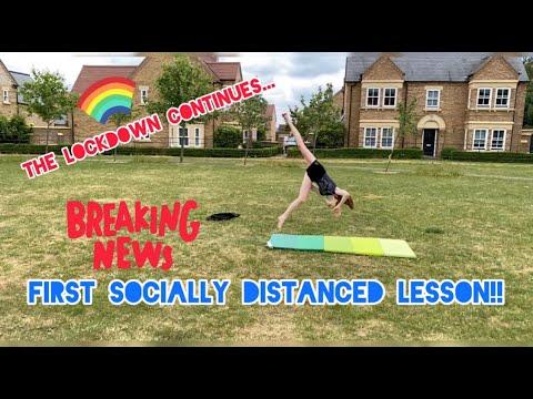 FIRST SOCIALLY DISTANCED LESSON! | ZOOM STUDIO MOVE | Aspire School of Dance | Dance School Vlog