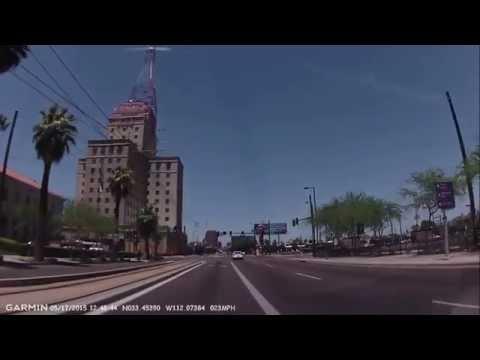 Phoenix, Arizona: Sky Harbor Airport to downtown 2015-05-17