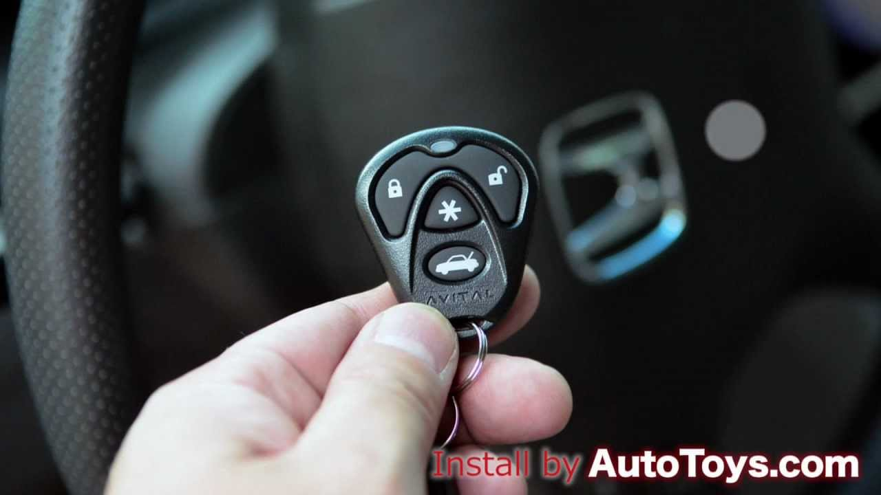 medium resolution of honda accord 03 07 remote start avital and idatalink by autotoys com youtube