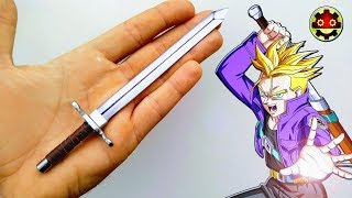ESPADA de TRUNKS DRAGON BALL Como hacer
