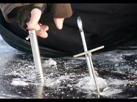 Ночная зимняя рыбалка-оборудование палатки - YouTube