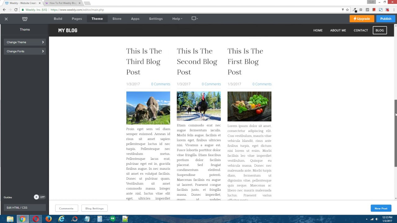 Weebly Tutorial: How To Put Your Weebly Blog Posts Into Columns