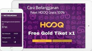 Gambar cover Cara Berlangganan HOOQ Gratis Free Gold Tiket 2018