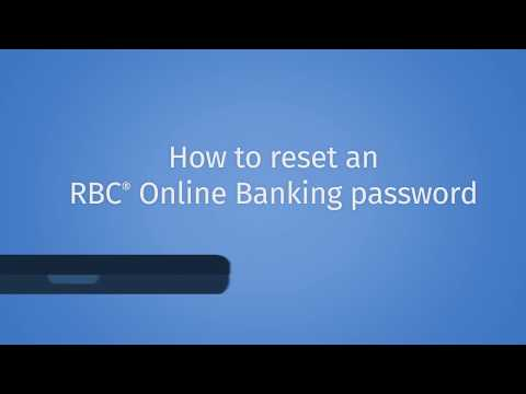 How To Reset An RBC OLB Password