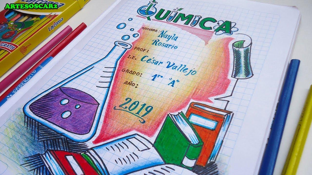 Caratula para cuaderno de quimica caratulas facil y for Caratulas de artes plasticas para secundaria