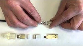 Montageanleitung-125: USB 2.0 Typ A-Stecker, Kontakte vergoldet