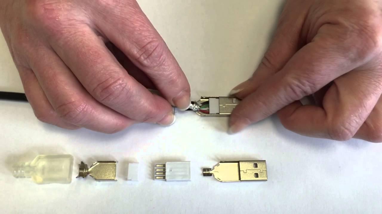 Montageanleitung-125: USB 2.0 Typ A-Stecker, Kontakte vergoldet ...