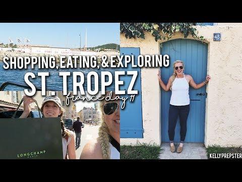 SHOPPING, EATING, & EXPLORING ST. TROPEZ!! FRANCE VLOG DAY 11 || Kellyprepster