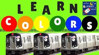 Trains For Kids Learn Colors For Toddlers With Trains NYC Subway MTA Trains and Subway Stations