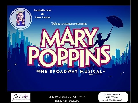 Danielle Jost as Jane Banks in Mary Poppins (FLCT - Fort Lauderdale Children's Theatre) Part 1