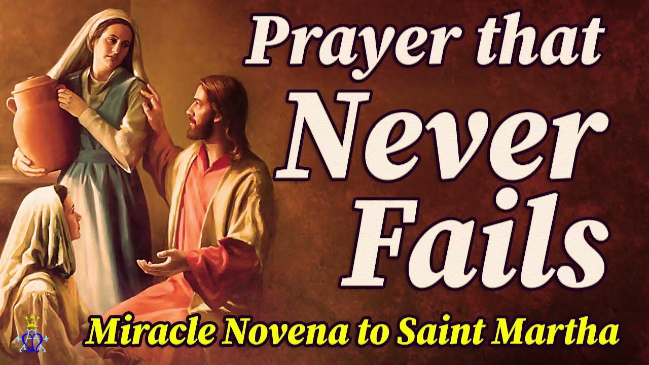 Download 🙏 Miracle Novena to Saint Martha - Prayer That Never Fails 🙏