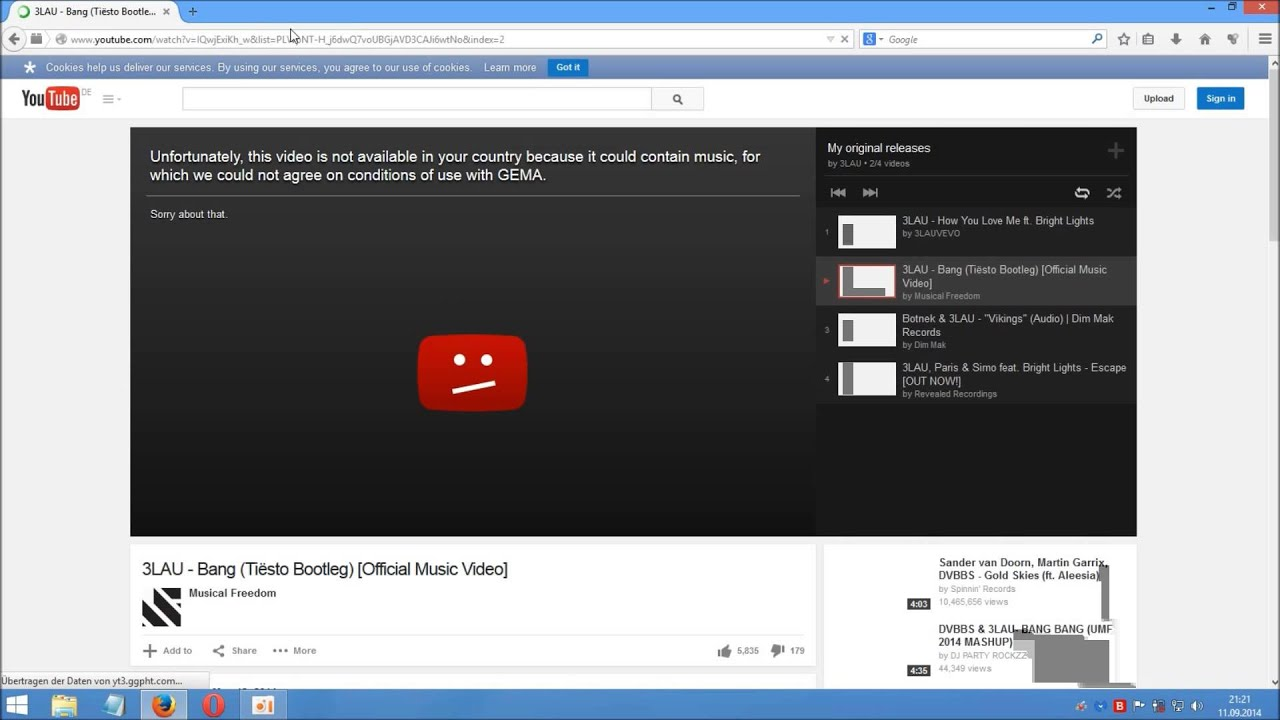 How To Watch Blocked Youtube Videos  Firefox Addon